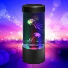 Lampada led simulazione effetto acquario rilassante casa ufficio lampada tavolo