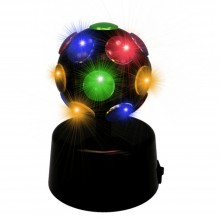 Lampada led rotante interruttore USB mini disco luce illuminazione party festa