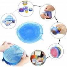 6x Coperchi in silicone estensibili per contenitori tappi elastici conserve cibo