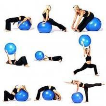 Gym Ball - Palla per esercizi palestra yoga ginnastica palla fitness addominali - con pompa a pedale