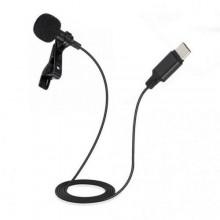 Microfono lavalier jack type C smartphone cellulare registrare interviste voce