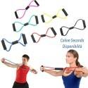 Resistance Band espansori Yoga Pilates Estensibile Fascia Fitness Tubo Elastico ABS forma a 8 - colore secondo disponibilità