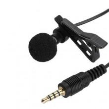 Microfono condensatore mic JH043 omnidirezionale jack 3,5mm smartphone cellulare