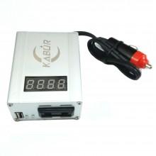 Inverter auto 12V 220V camper barca campeggio USB max 350W display accendisigari