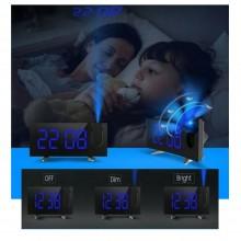 Sveglia proiettore muro multifunzione orologio display LCD digitale 3 luminosità
