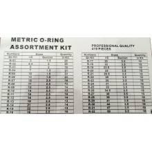 Kit o-ring oring valigetta da 419 pezzi guarnizioni gomma diverse misure assortite