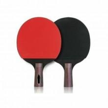 Set ping pong 2 racchette 3 palline tenni da tavolo hobby sport tempo libero