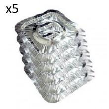 10X Salva piano cottura quadrato fornelli alluminio cucina grasso antiaderente