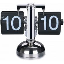 Orologio da tavolo vintage flip clock design elegante nero scrivania retrò casa
