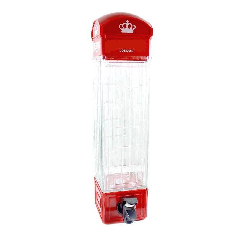 London Dispenser erogatore birra vino acqua bevande 1L forma cabina telefonica