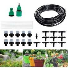 Kit tubo sistema a goccia acqua nebulizzata irrigazione giardino giardinaggio 5 m