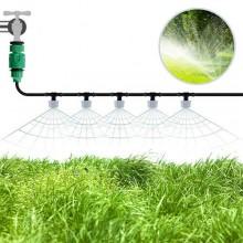 Kit tubo sistema goccia acqua nebulizzata irrigazione giardino giardinaggio 10 M