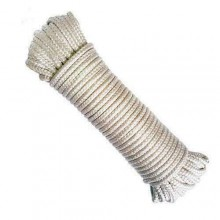 Corda fune 10 M bianca multiuso intrecciata nautica lunghezza nylon resistente