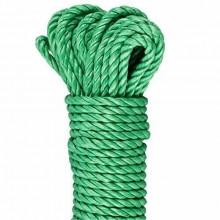 Corda 15 M in polipropilene resistente intrecciata verde multiuso ormeggio stiva