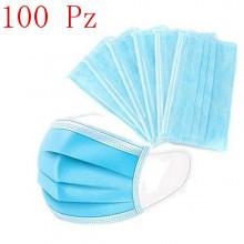 100x Mascherine per bambini 14.5 x 9.5 cm mascherina protezione monouso traspirante leggera blu chirurgiche