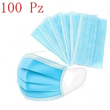 100x Mascherine per adulti chirurgiche blu mascherina protezione virus traspirante e leggera