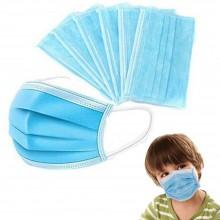 50x Mascherine per bambini 14.5 x 9.5 cm mascherina protezione monouso traspirante leggera blu chirurgiche