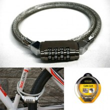 Lucchetto catena per bici bicicletta sicurezza antifurto combinazione a 4 cifre