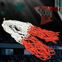 Rete basket senza canestro nylon resistente da agganciare rosso bianco annodata