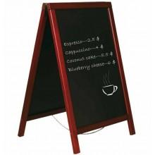 Lavagna nera cavalletto doppia faccia 50x85 cm cornice legno bar pub ristorante
