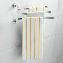 Porta asciugamani 3 braccia da parete muro girevoli bagno acciaio arredamento