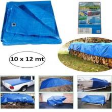 Telo occhiellato copertura blu antigelo impermeabile antistrappo telone giardino