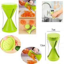 Affettatrice manuale taglia verdure spirale 4 lame da 3-5-10-70 mm verde cucina