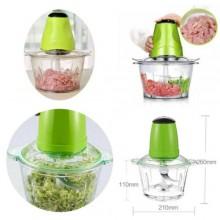 Mini tritacarne verdure elettrico con contenitore 2L verde multifunzione cucina
