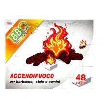 48x Diavolina cubetti accendi fuoco istantaneo camino barbecue BBQ stufe forni