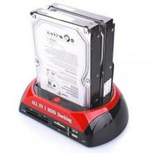 staiDocking station HDD hard disk 3.5 2.5 sata ide 2 HD box case mini USB Sd 480MB/s