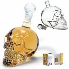 Caraffa di Vetro a Forma di Teschio Crystal Head skull per liquore whisky e vodka e bevande in genere - 550ml
