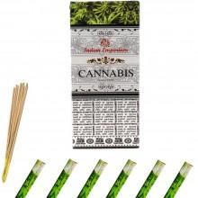 120x Bastoncini incenso cannabis 6 pacchetti profumo ambiente aroma purifica