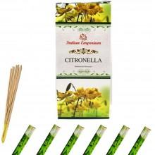 120x Bastoncini incenso citronella 6 pacchetti profumo ambiente aroma purifica