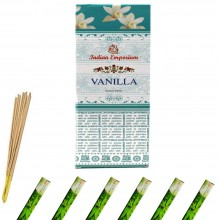 120x Bastoncini incenso vaniglia 6 pacchetti profumo ambiente aroma purifica