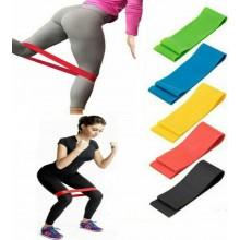 10X Fasce bande elastiche resistenza fitness palestra allenamento silicone yoga