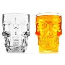 Boccale birra teschio Skull Shot Boccale in vetro a forma di Teschio per birra - 500ml