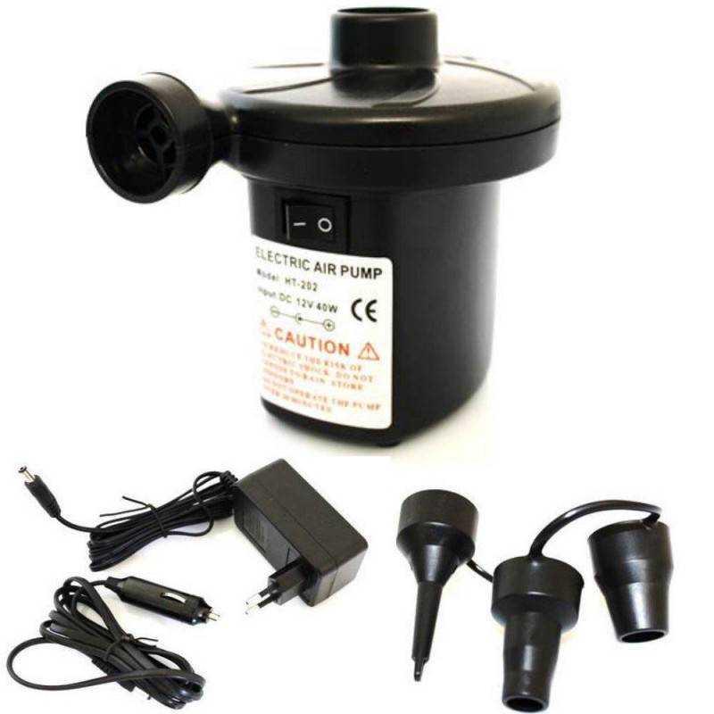 Pompa portatile elettrica gonfia e sgonfia con adattatore da rete 220V e accendisigari 12V ottima per canotti materassini