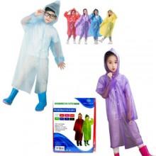 Poncho per bambini impermeabile con cappuccio dai 7 ai 10 anni riutilizzabile