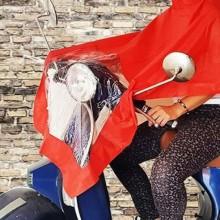 Poncho per moto anti pioggia motorino impermeabile riutilizzabile PVC scooter