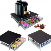 Cassetto contenitore porta capsule caffè cialde 39x35x8 Cm estraibile 36 capsule