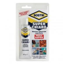 Adesivo universale super chiaro extra resistente 50 gr Bostik rapido forte colla