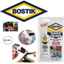 Adesivo universale super trasparente 50 Gr Bostik presa rapida contatto incolore