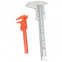 2 PEZZI calibro plastica Set misurazione strumento Righello profondità 150 75 mm