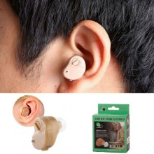 Mini apparecchio acustico auricolare amplificatore di suoni suono udito orecchio