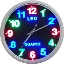 Orologio da parete silenzioso dotato di illuminazione LED multicolore Decorazione per Casa Ufficio Hotel Ristorante Fai Da Te