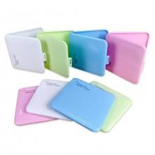 5x Porta mascherina custodia 13x13x2cm case portamascherina mascherine colorato