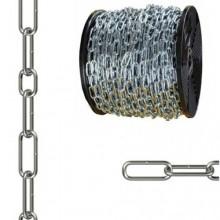 Catena genovese cromata in acciaio cromato finitura zincata bobina varie misure