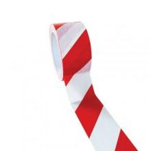 6x Nastro segnaletico non adesivo bianco e rosso 4.8cm x 50M delimitazione zone