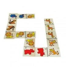 Domino gioco strategia per bambini 28 tessere animali giungla gioco di società