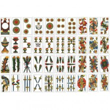 3x Carte piacentine regionali plastificate carte classiche giochi tavolo Antini